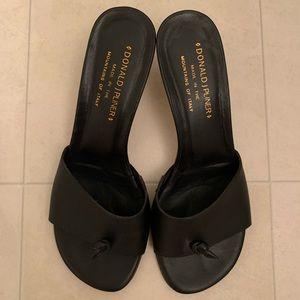 Donald J Pliner Black Thong Knot Sandals